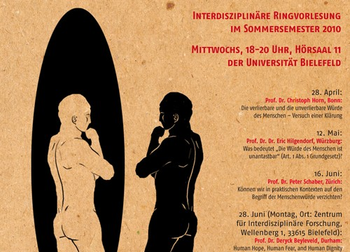 Plakat für die Universität Bielefeld Abteilung Philosophie